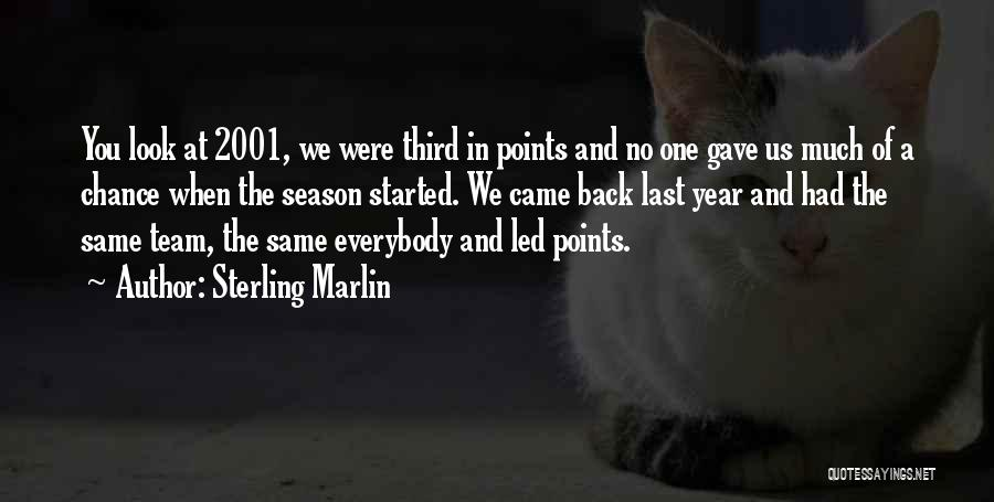 You Came Back Quotes By Sterling Marlin