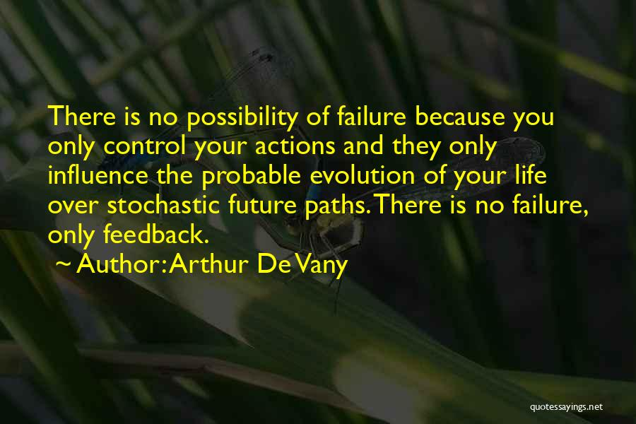 You Can Only Control Your Own Actions Quotes By Arthur De Vany
