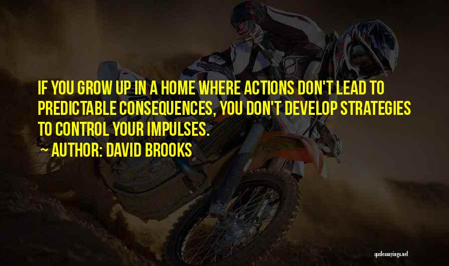 You Can Only Control Your Own Actions Quotes By David Brooks