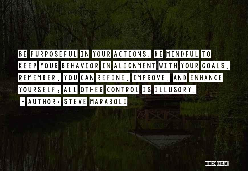 You Can Only Control Your Own Actions Quotes By Steve Maraboli