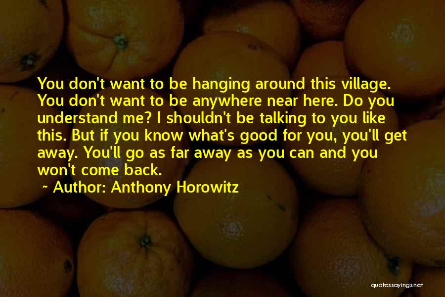You Can Understand Me Quotes By Anthony Horowitz