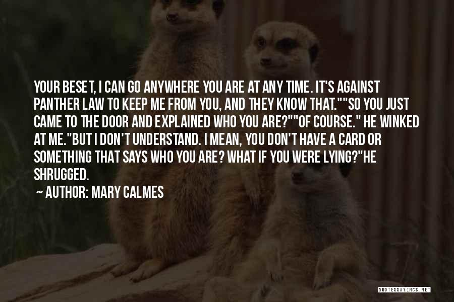 You Can Understand Me Quotes By Mary Calmes