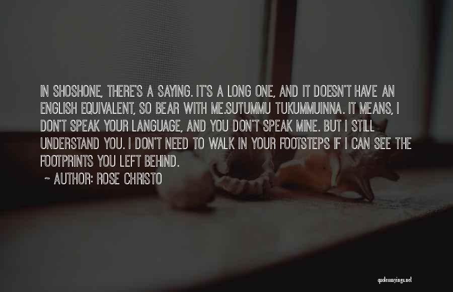 You Can Understand Me Quotes By Rose Christo