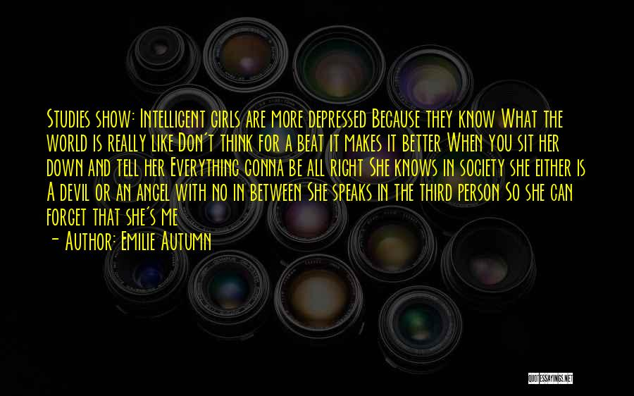 You Can't Beat Me Down Quotes By Emilie Autumn
