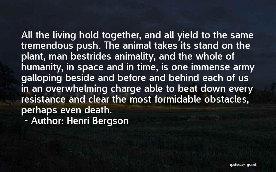 You Can't Beat Me Down Quotes By Henri Bergson