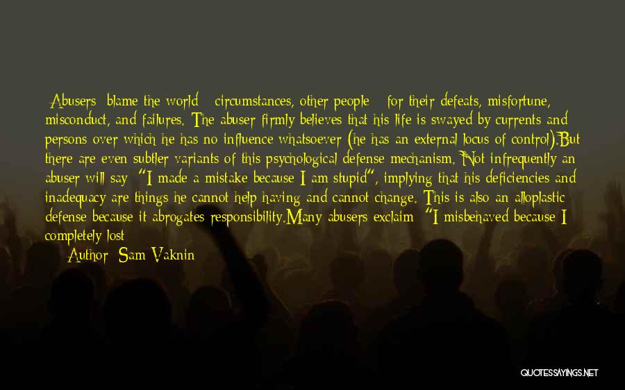 You Can't Change Stupid Quotes By Sam Vaknin