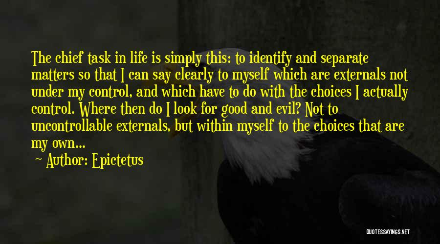 You Can't Control The Uncontrollable Quotes By Epictetus