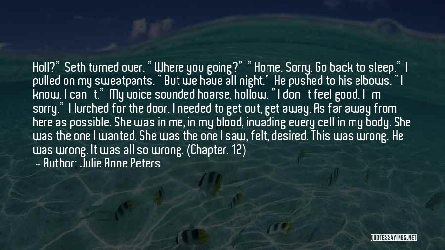 You Can't Get Me Back Quotes By Julie Anne Peters