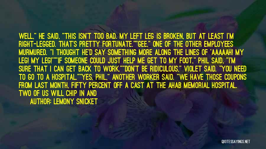You Can't Get Me Back Quotes By Lemony Snicket