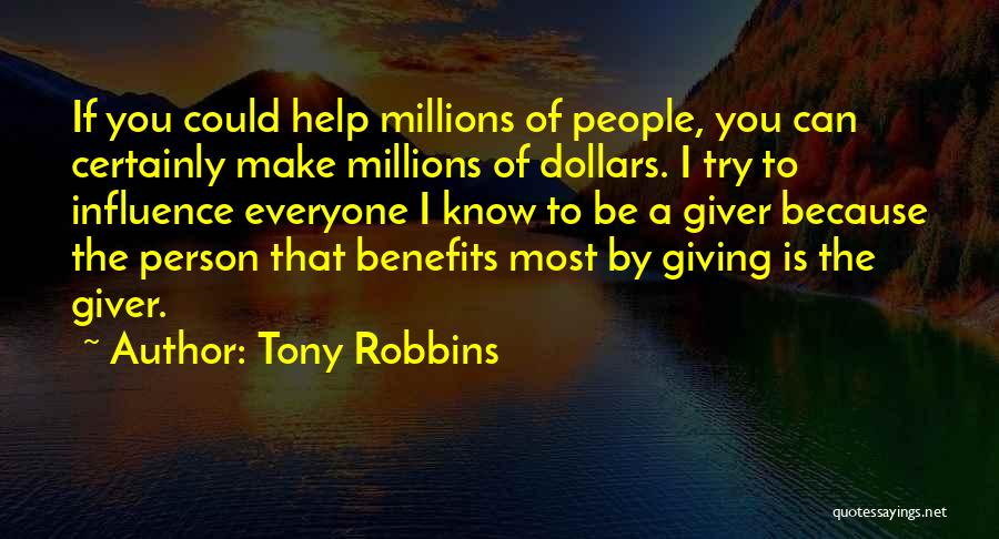 You Can't Help Everyone Quotes By Tony Robbins
