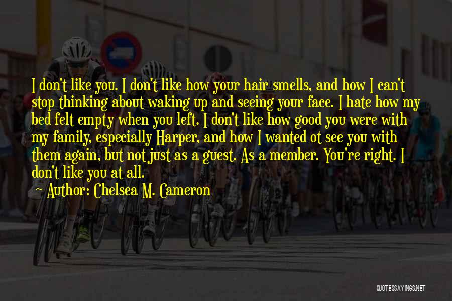 You Can't See My Face Quotes By Chelsea M. Cameron