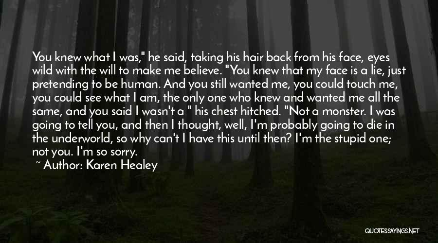 You Can't See My Face Quotes By Karen Healey