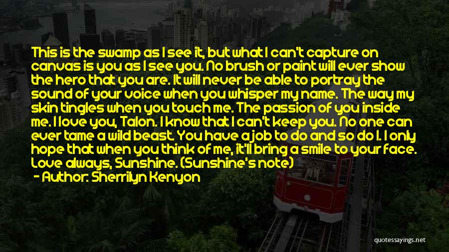 You Can't See My Face Quotes By Sherrilyn Kenyon