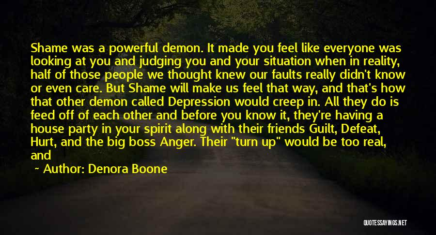 You Didn't Care Quotes By Denora Boone