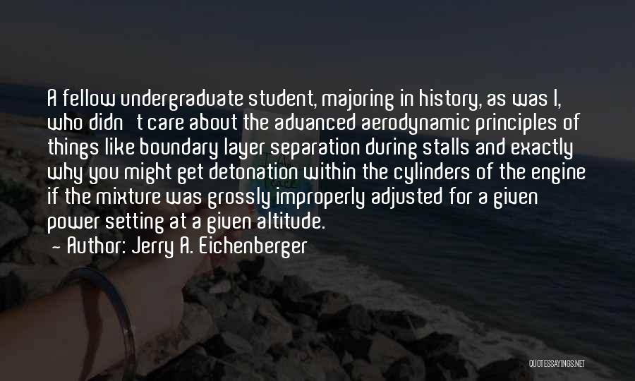 You Didn't Care Quotes By Jerry A. Eichenberger