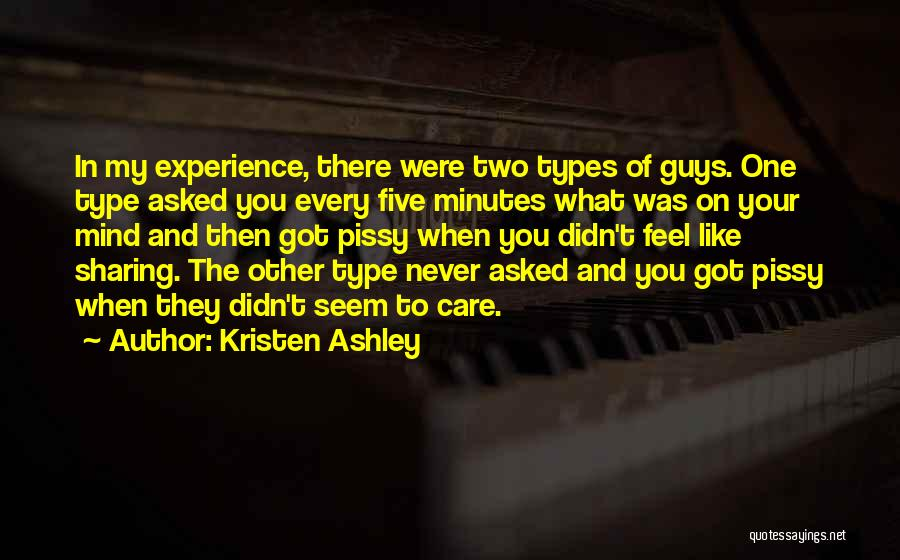 You Didn't Care Quotes By Kristen Ashley