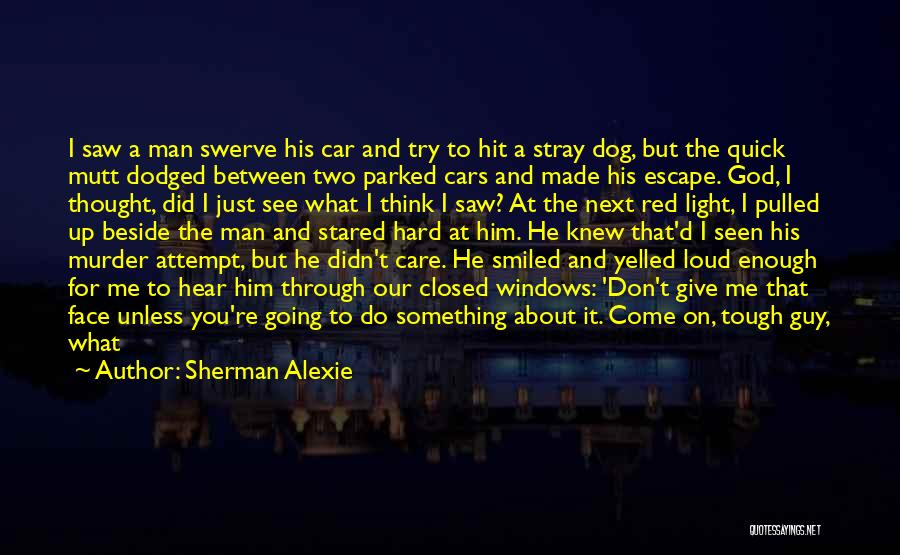 You Didn't Care Quotes By Sherman Alexie