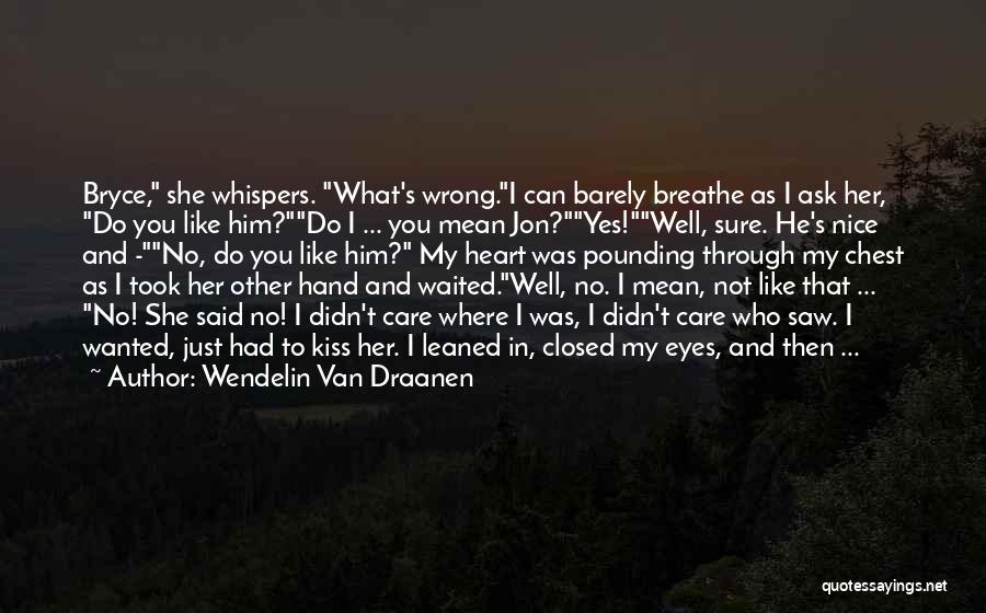 You Didn't Care Quotes By Wendelin Van Draanen
