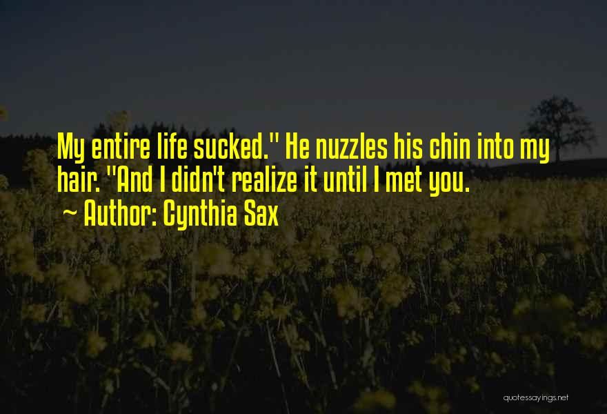You Didn't Realize What You Had Quotes By Cynthia Sax