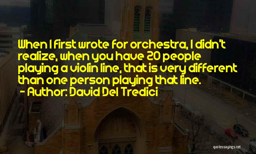 You Didn't Realize What You Had Quotes By David Del Tredici