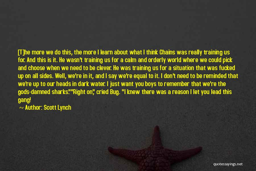 You Do It Quotes By Scott Lynch