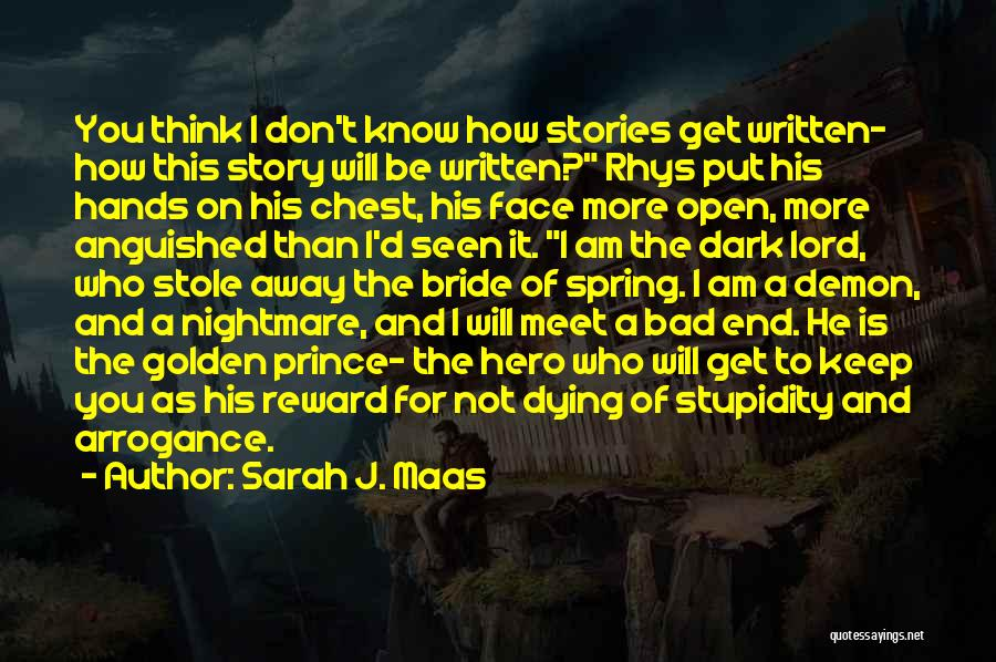 You Don't Know Me Or My Story Quotes By Sarah J. Maas