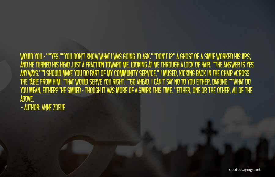 You Don't Know What To Do Quotes By Anne Zoelle