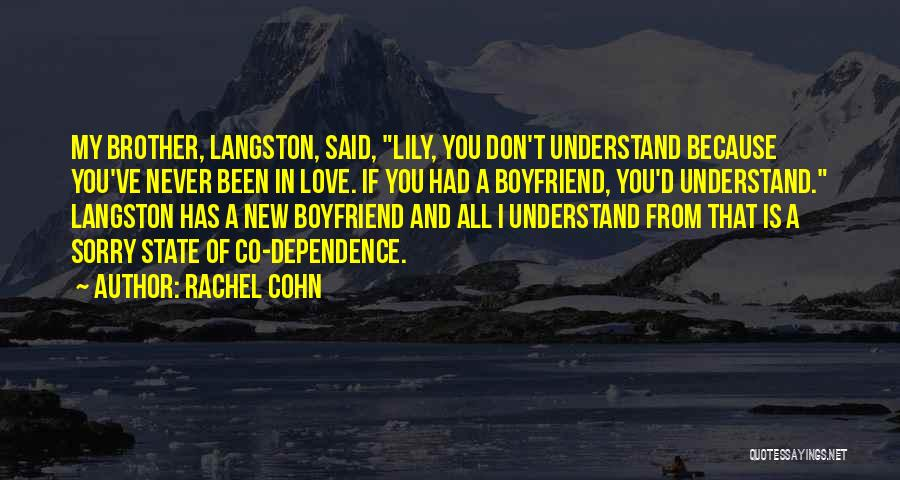 You Don't Understand My Love Quotes By Rachel Cohn
