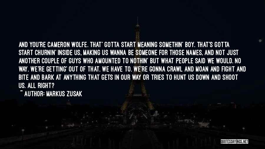 You Gotta Fight Quotes By Markus Zusak