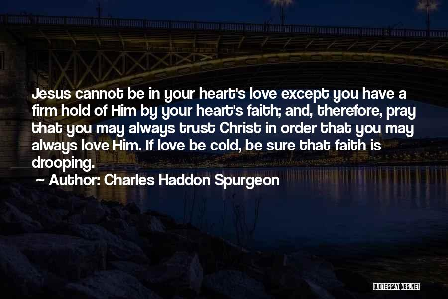 You Have A Cold Heart Quotes By Charles Haddon Spurgeon