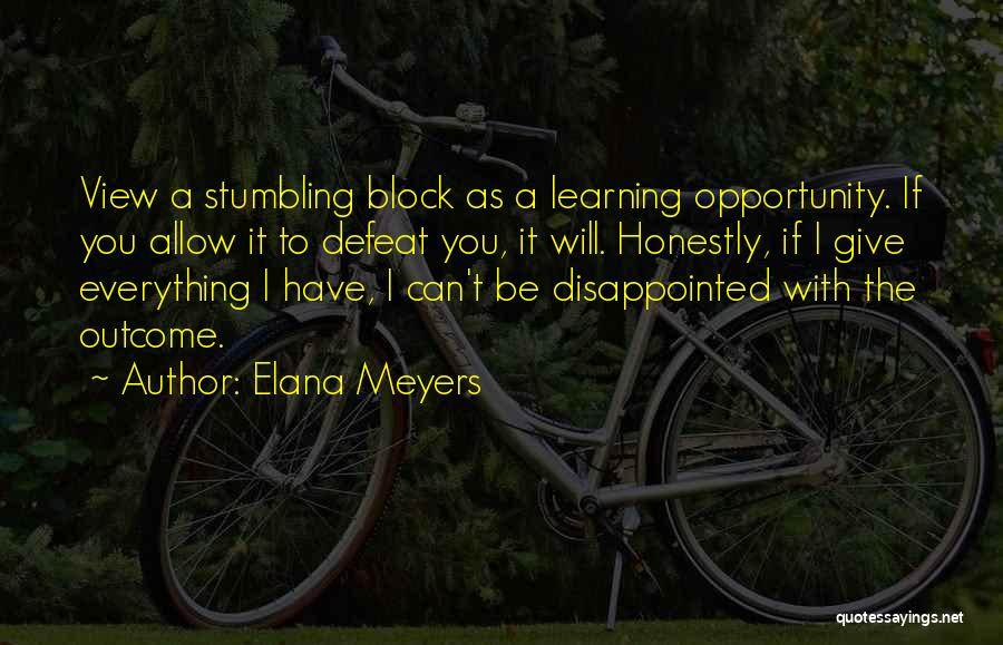 You Have To Quotes By Elana Meyers