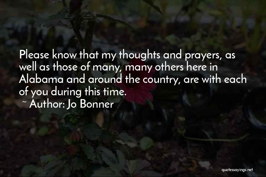You In My Prayers Quotes By Jo Bonner