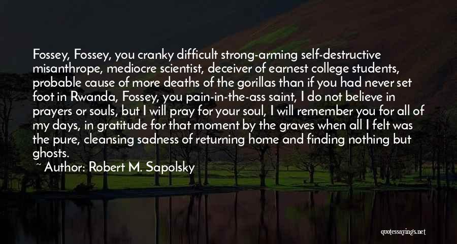 You In My Prayers Quotes By Robert M. Sapolsky