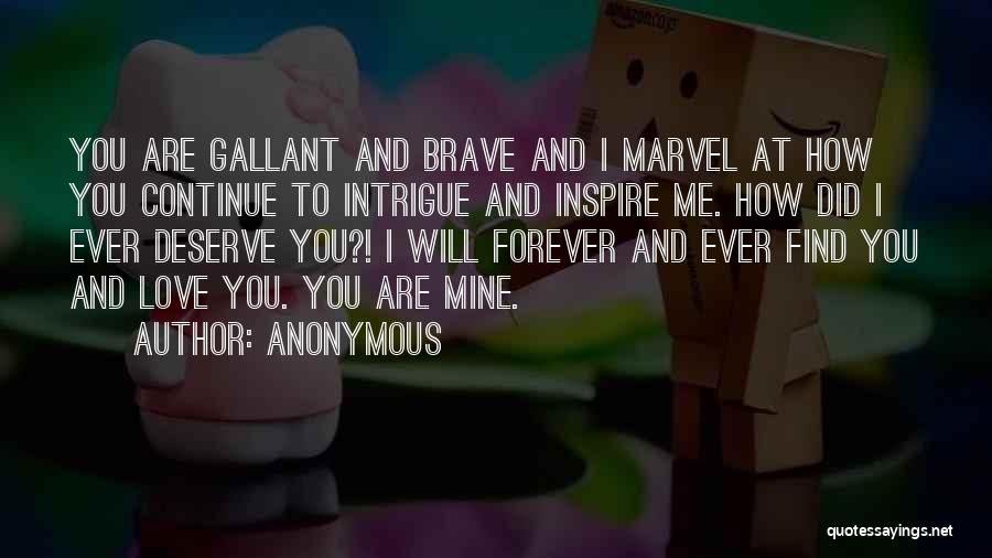 You Inspire Me Quotes By Anonymous
