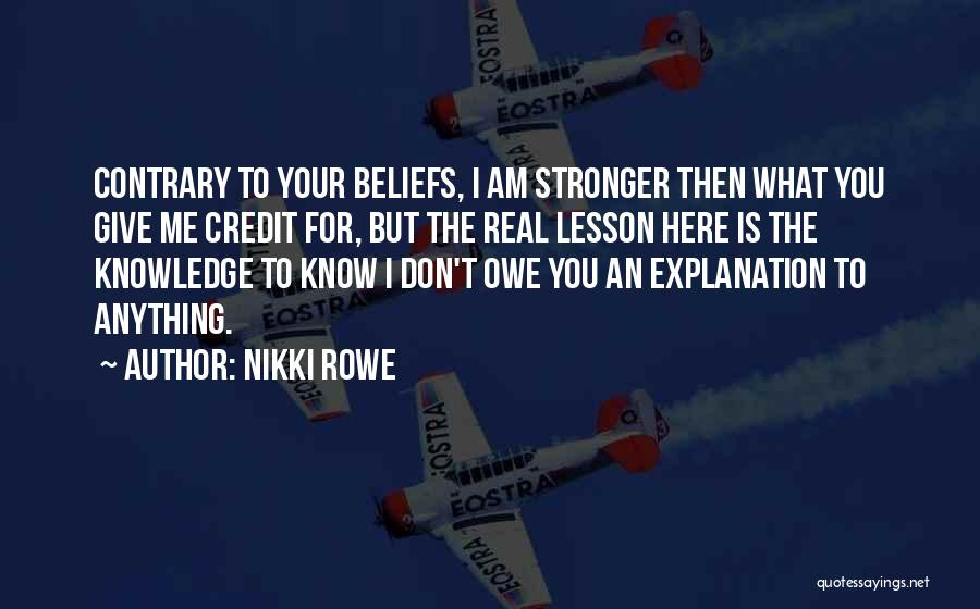 You Inspire Me Quotes By Nikki Rowe