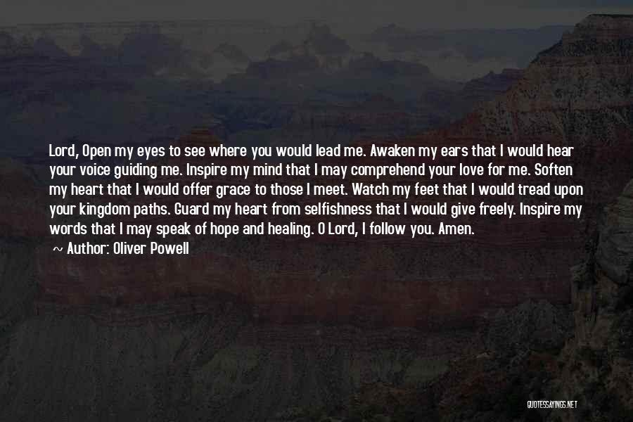 You Inspire Me Quotes By Oliver Powell