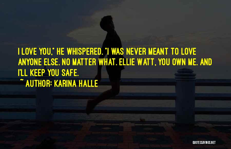 You Keep Me Safe Quotes By Karina Halle