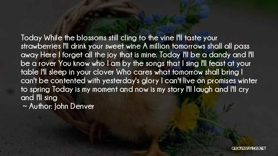 You Know That Moment Quotes By John Denver