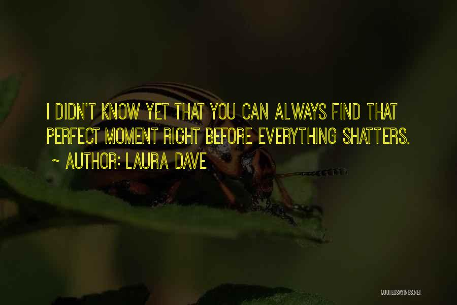 You Know That Moment Quotes By Laura Dave