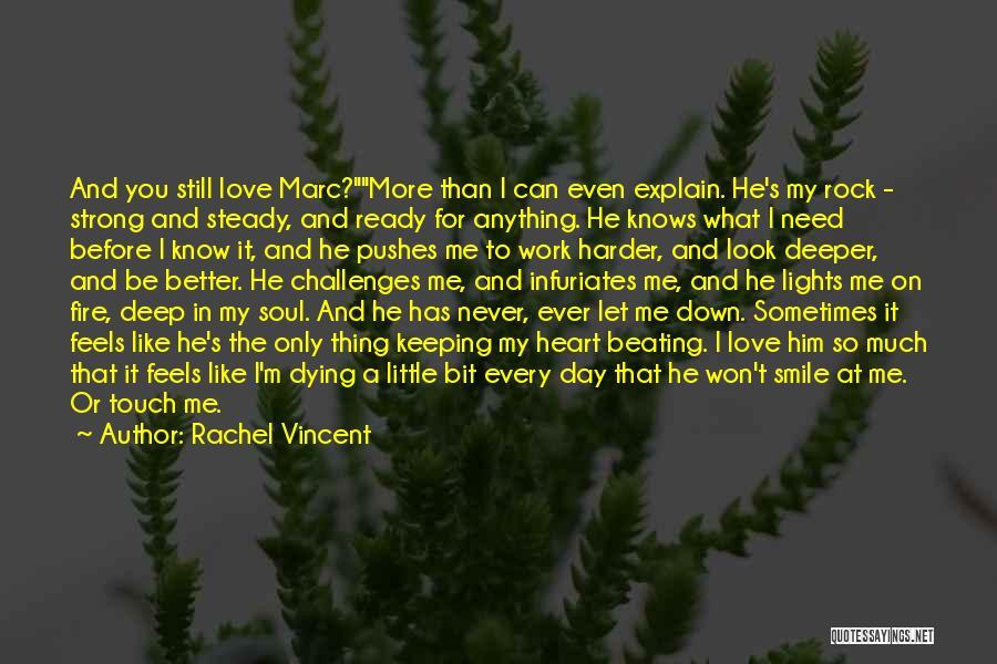 You Let Me Down Love Quotes By Rachel Vincent