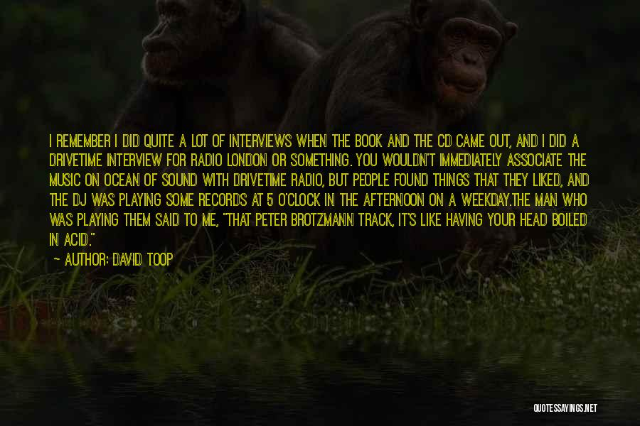 You Liked Me Quotes By David Toop
