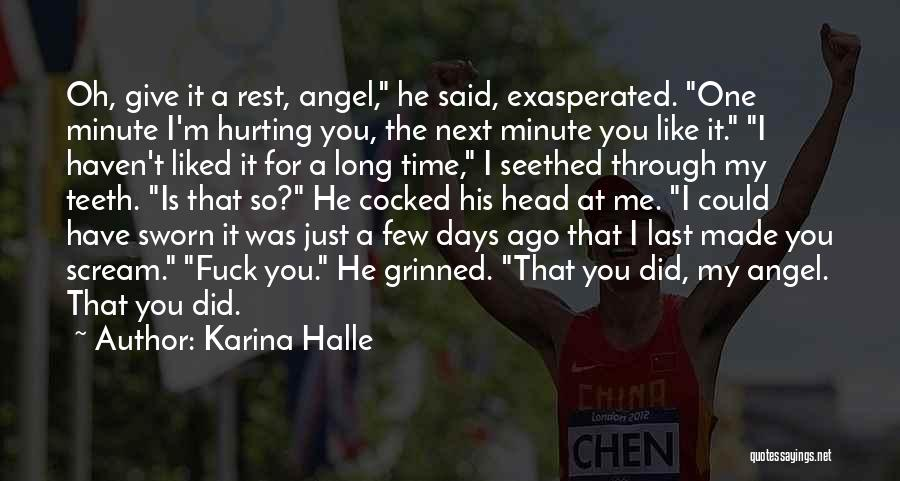You Liked Me Quotes By Karina Halle