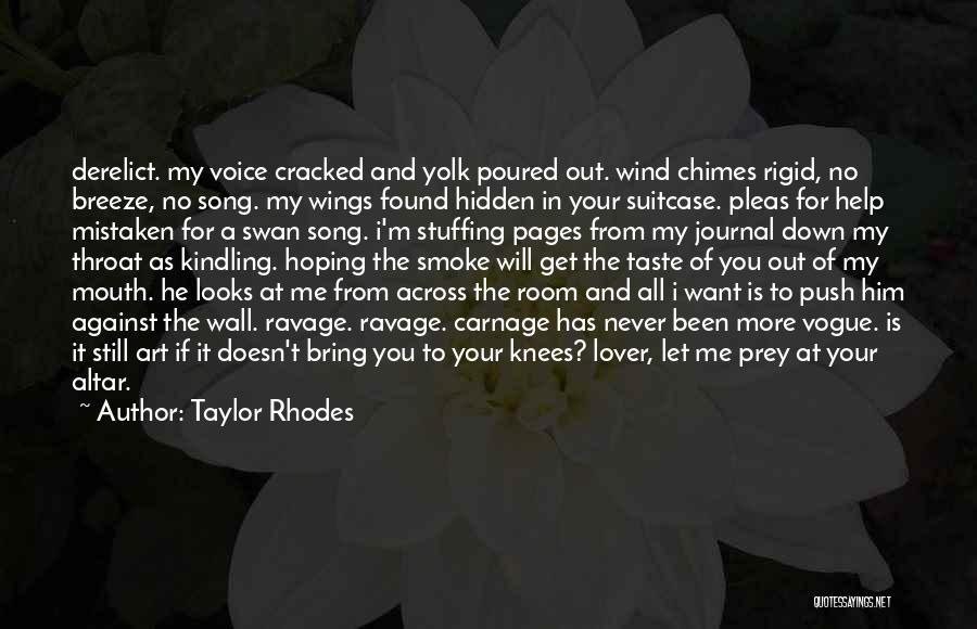 You Look So Pretty Quotes By Taylor Rhodes
