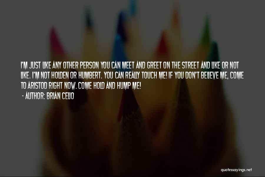 You Meet Me Quotes By Brian Celio