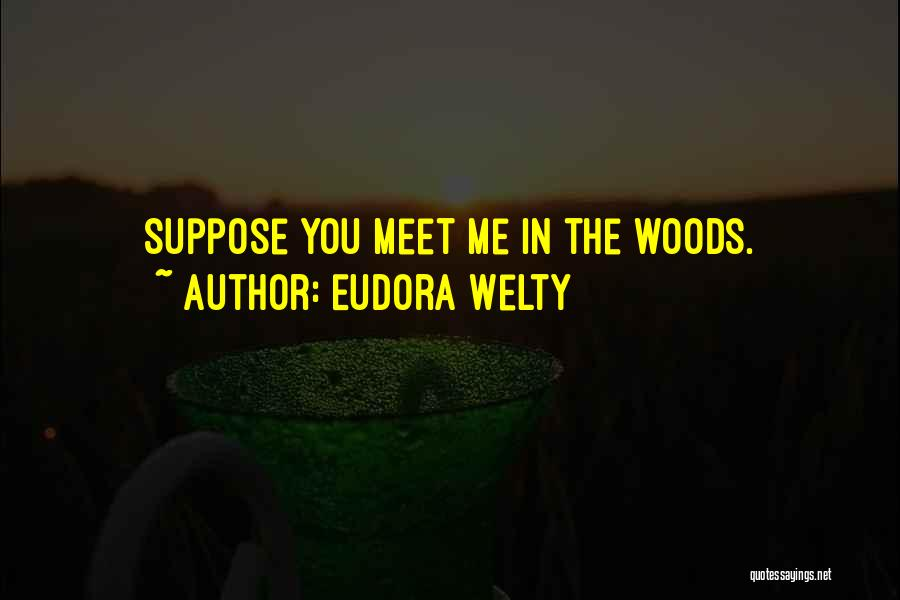 You Meet Me Quotes By Eudora Welty