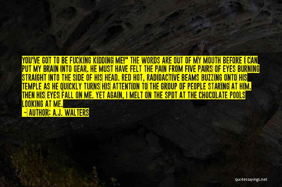 You Melt Me Quotes By A.J. Walters