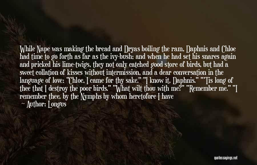 You Melt Me Quotes By Longus