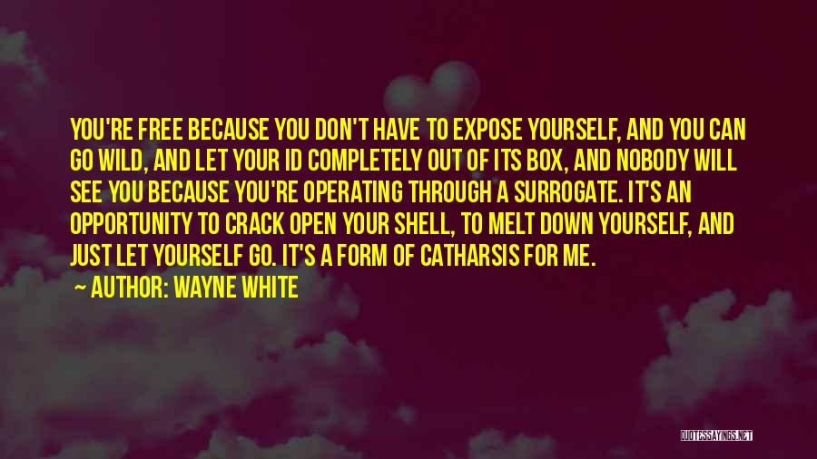 You Melt Me Quotes By Wayne White