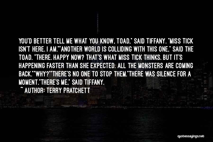 You Miss Me Now Quotes By Terry Pratchett