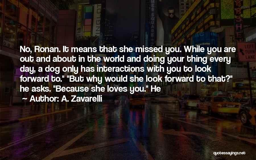 You Missed It Quotes By A. Zavarelli